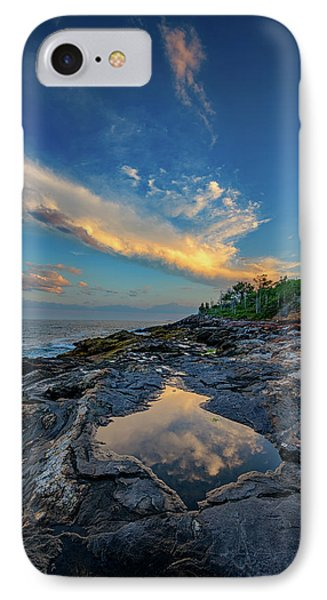 Muscongus Bay Reflections IPhone Case by Rick Berk