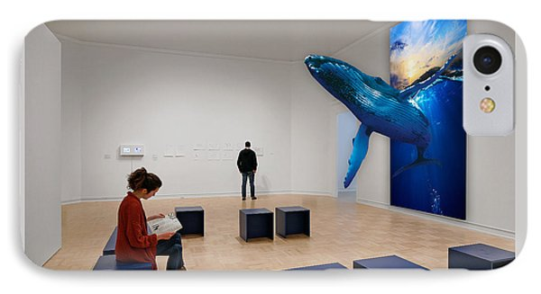 Museum Whale Watching IPhone Case