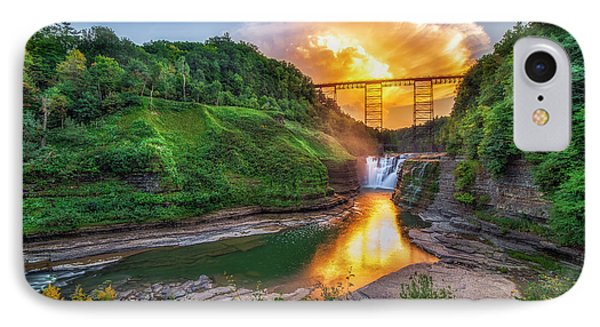 IPhone Case featuring the photograph Mushroom Cloud Over Upper Falls by Mark Papke