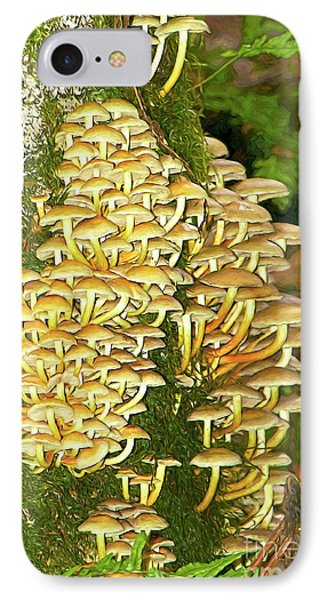IPhone Case featuring the photograph Mushroom Colony Photo Art by Sharon Talson