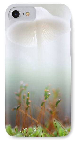 Mushroom Dreams, Mycena Galericulata IPhone Case by Dirk Ercken