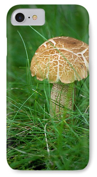 Mushroom In The Grass Phone Case by Teresa Mucha