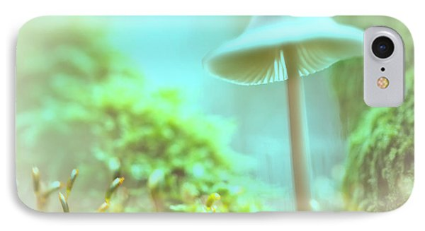 IPhone Case featuring the photograph Mushroom Misty Dreams, Mycena Galericulata by Dirk Ercken