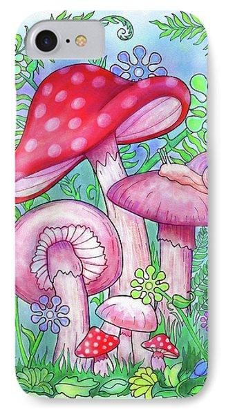 Mushroom Wonderland Phone Case by Jennifer Allison
