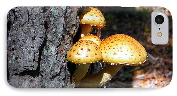 Mushrooms On A Tree Phone Case by George Jones