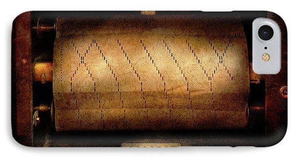 Music - Piano - Binary Code  Phone Case by Mike Savad