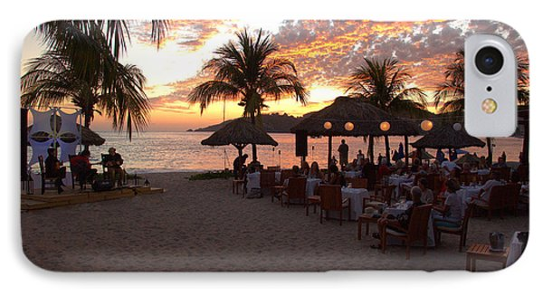 IPhone Case featuring the photograph Music And Dining On The Beach by Jim Walls PhotoArtist