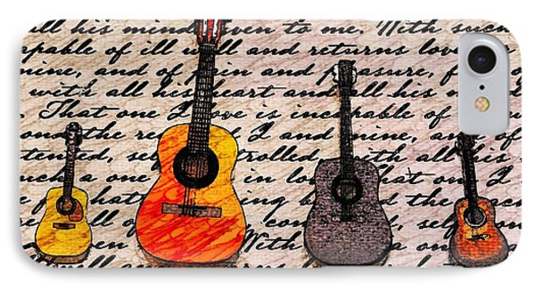 Music And Poetry By Jasna Gopic IPhone Case by Jasna Gopic