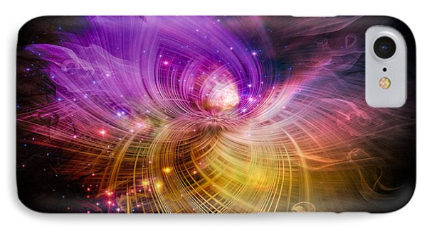 IPhone Case featuring the digital art Music From Heaven by Carolyn Marshall