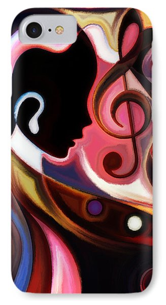 Music In The Air Phone Case by Karen Showell