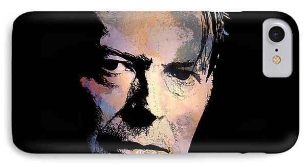 IPhone Case featuring the painting Music Legend. by Andrzej Szczerski