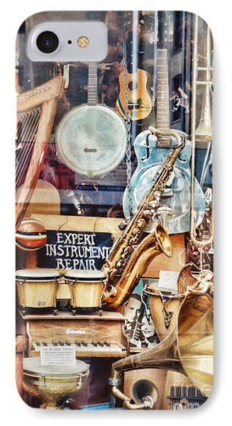 Music Store Nyc IPhone Case by HD Connelly
