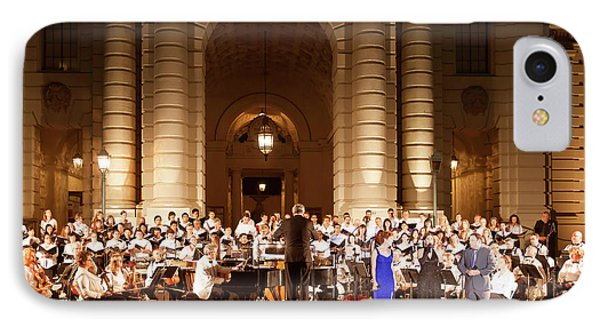 IPhone Case featuring the photograph Music Under The Stars - Symphony At Pasadena City Hall California by Ram Vasudev