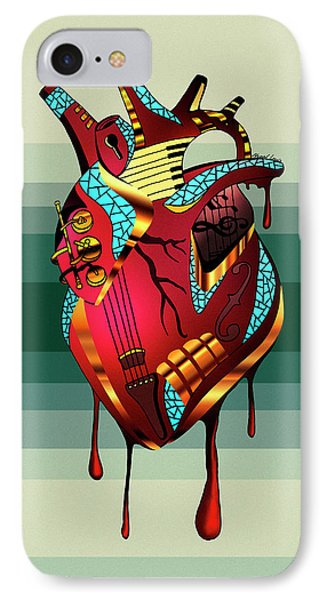Musical Heart  IPhone Case by Kenal Louis