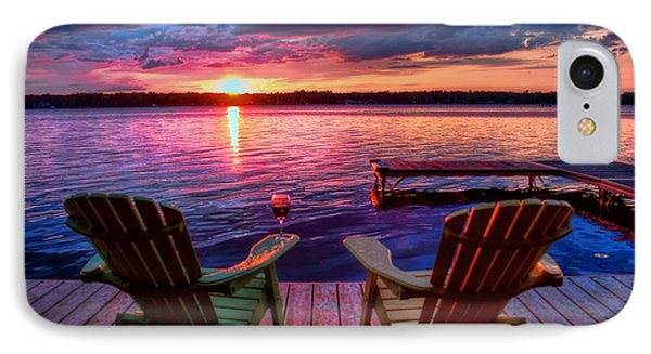 IPhone Case featuring the photograph Muskoka Chair Sunset by Michaela Preston