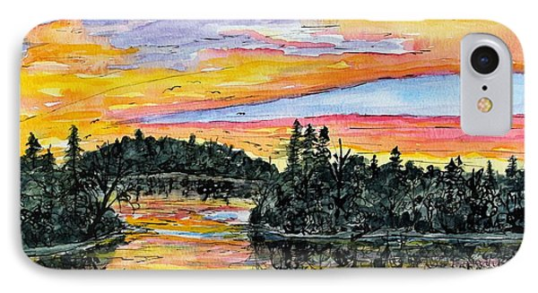 Musky Sunset IPhone Case by Linda Steine