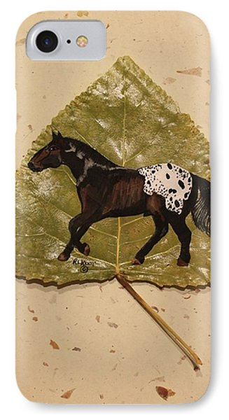 Mustang Appaloosa On Poplar Leaf IPhone Case by Ralph Root
