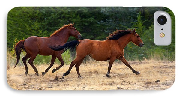 Mustang Gallop IPhone Case by Mike  Dawson