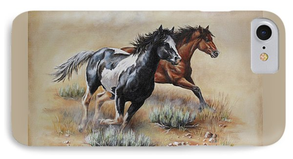 Mustang Glory IPhone Case by Kim Lockman