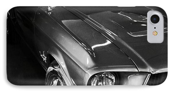 Mustang In Black And White IPhone Case by John Stuart Webbstock
