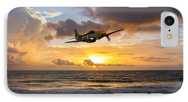 Mustang Sunset IPhone Case by J Biggadike