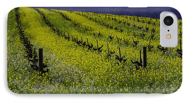 Mustard Grass Landscape IPhone Case by Garry Gay
