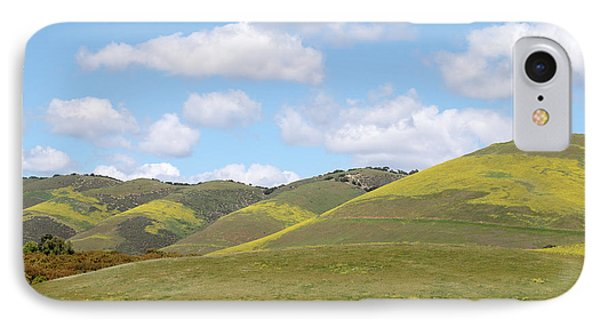 Mustard On Nipomo Hills IPhone Case by Art Block Collections