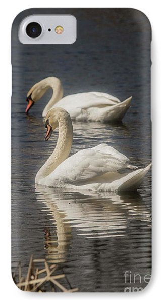 IPhone Case featuring the photograph Mute Swans by David Bearden
