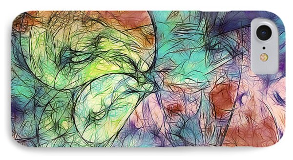 Muted Heaven Abstract IPhone Case by Georgiana Romanovna