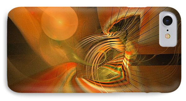 Mutual Respect - Abstract Art IPhone Case by Sipo Liimatainen