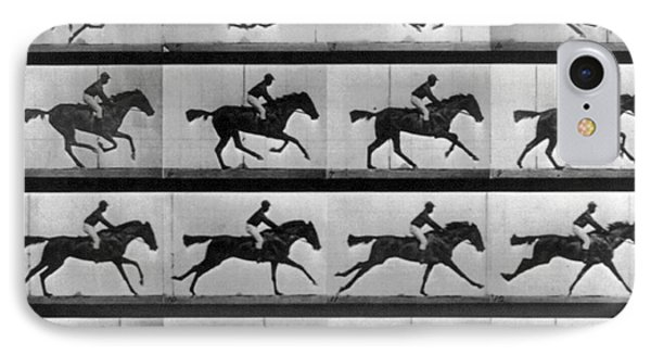 Muybridge Locomotion Racehorse Phone Case by Photo Researchers
