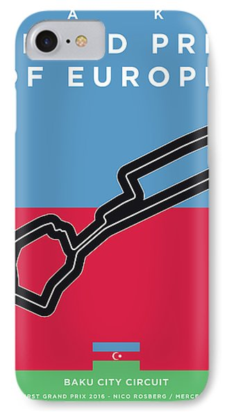 My 2017 Grand Prix Of Europe Minimal Poster IPhone Case
