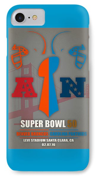 My 2nd Super Bowl Broncos Panthers IPhone Case by Joe Hamilton