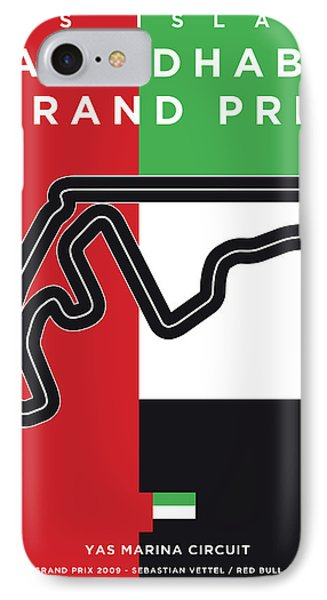 My Abu Dhabi Grand Prix Minimal Poster IPhone Case