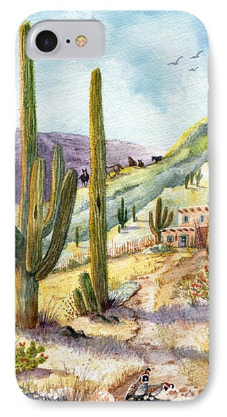 IPhone Case featuring the painting My Adobe Hacienda by Marilyn Smith