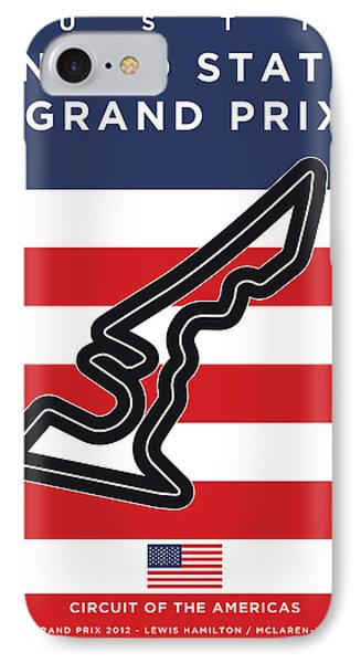 My Austin Usa Grand Prix Minimal Poster IPhone Case