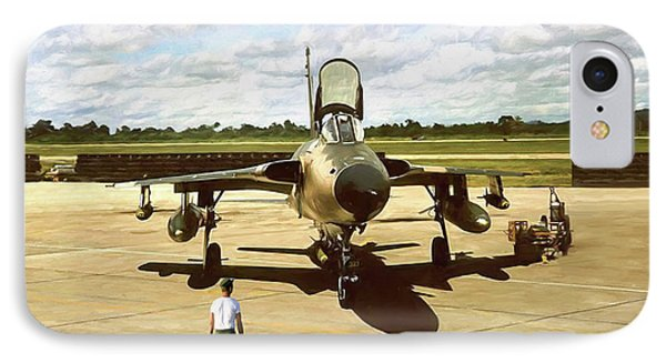 My Baby F-105 IPhone Case by Peter Chilelli
