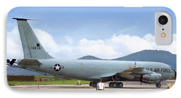 IPhone Case featuring the digital art My Baby Kc-135 by Peter Chilelli