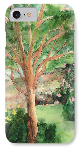 IPhone Case featuring the painting My Backyard by Vicki  Housel