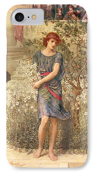 My Beloved Has Gone Down To His Garden IPhone Case by John Melhuish Strudwick