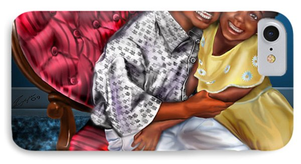 My Big Brother-my Little Sister1 Phone Case by Reggie Duffie