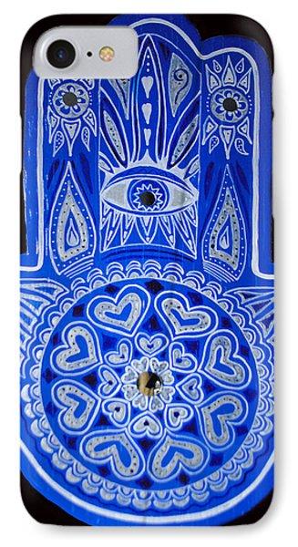 My Blue Hamsa IPhone Case