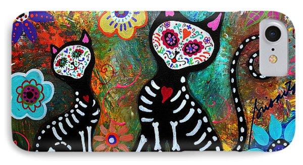 My Cats Dia De  Los Muertos IPhone Case