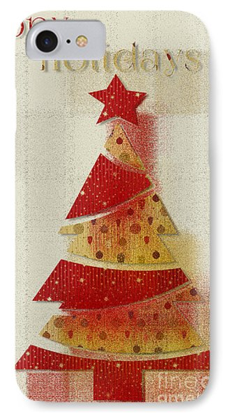 IPhone Case featuring the digital art My Christmas Tree 02 - Happy Holidays by Aimelle