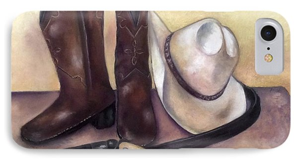 My Cowboy's Home IPhone Case by Annamarie Sidella-Felts