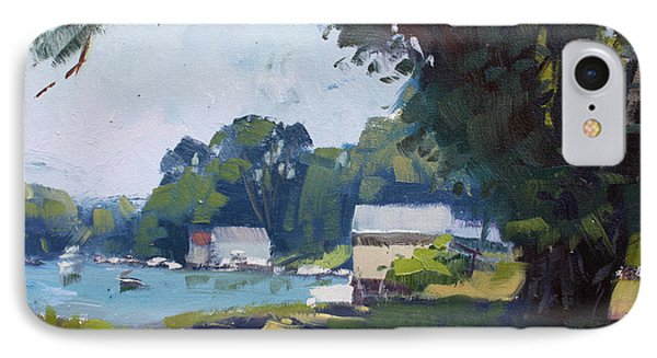 My Demonstration At Plein Air Workshop At Mayors Park IPhone Case