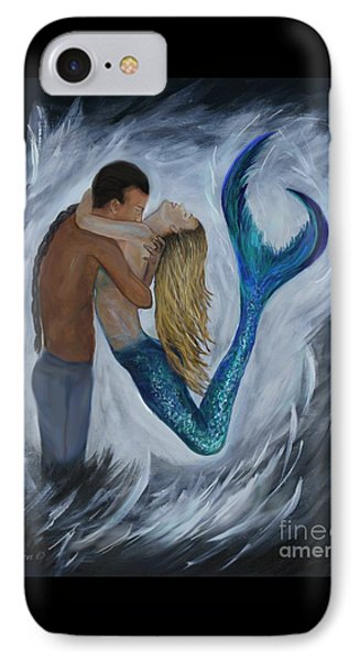 IPhone Case featuring the painting My Dream Mermaid by Leslie Allen