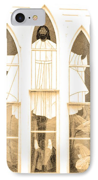IPhone Case featuring the photograph My Fathers Church Window by Lenore Senior