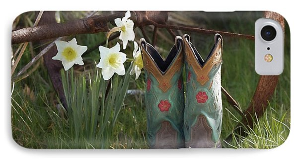 IPhone Case featuring the photograph My Favorite Boots by Benanne Stiens