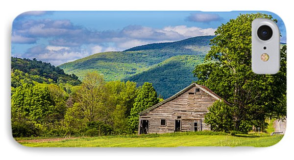 IPhone Case featuring the photograph My Favorite Cabin In The Rolling Mountains by Paula Porterfield-Izzo